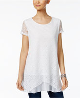 Style&Co. Style & Co Lace Layered-Hem Tunic, Only at Macy's
