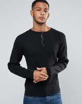 Tokyo Laundry Muscle Fit Grandad Ribbed Sweater