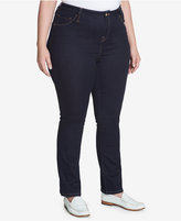 Tommy Hilfiger Plus Size Greenwhich Slim-Leg Jeans, Blue Moon Wash