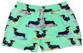MC2 Saint Barth Dachshund Printed Nylon Swim Shorts