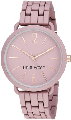 Nine West Women's Quartz Metal and Alloy Dress Watch Color:Purple