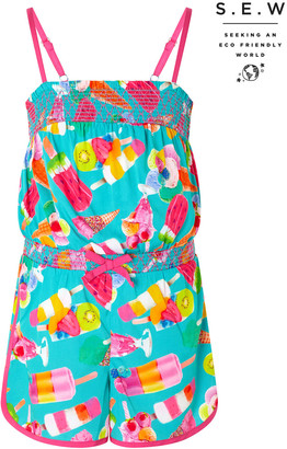 Under Armour Erica Ice Lolly Playsuit in Recycled Fabric Green