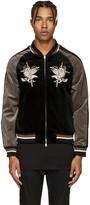 Diet Butcher Slim Skin Reversible Black Souvenir Jacket