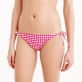 J.Crew Gingham string bikini bottom