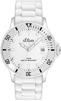 S'Oliver Men's Quartz Watch SO-2676-PQ with Plastic Strap
