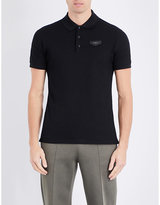 Givenchy Leather-badge Cotton-piqué Polo Shirt