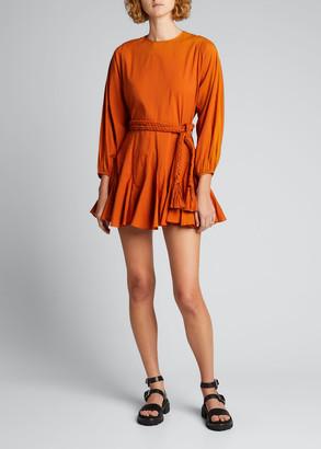 Rhode Resort Ella Belted Mini Flounce Dress