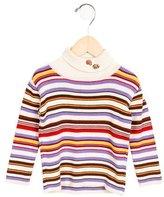 Tartine et Chocolat Girls' Striped Turtleneck Sweater