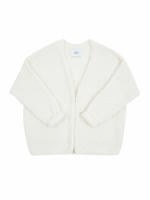 Ln Knits - White Adorable Annie Cardigan - medium | white - White/White