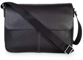 Boconi Tyler Leather Folio Messenger Bag