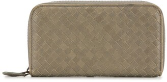 Bottega Veneta Pre-Owned Intrecciato zip-around wallet