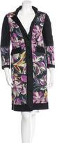 Etro Long Floral Print Coat