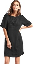 Gap Flowy embroidered shift dress