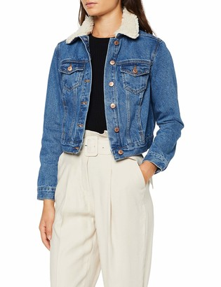New Look Petite Women's P AW19 LI Borg Denim Jacket