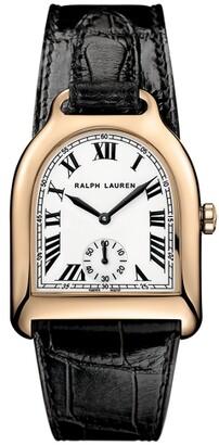 Ralph Lauren Medium Rose Gold Alligator