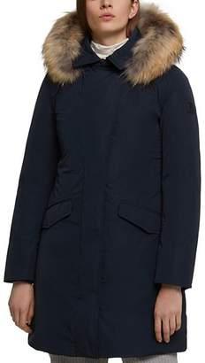 Woolrich Modern Vail Fur-Trim Down Coat