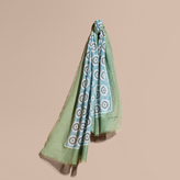 Burberry Pyjama Print Cotton Silk Scarf