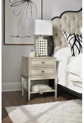 Hooker Furniture Sanctuary 2 Petit Bijou Telephone 2 Drawer Nightstand