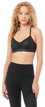 Alo Yoga Sunny Strappy Bra Black Glossy Small