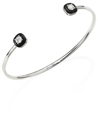 Nikos Koulis Oui Diamond, Enamel & 18K White Gold Bangle