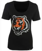 '47 Women's Cincinnati Bengals Lux Sequins Scoop T-Shirt