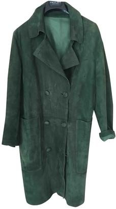 Golden Goose Green Leather Coats