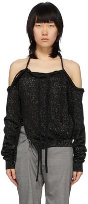 Ottolinger Black and Grey Speckled Halter Sweater