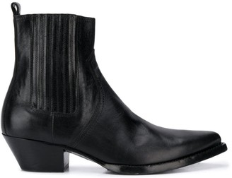 Saint Laurent Lukas pointed toe boots