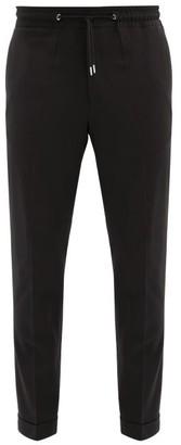 Paul Smith Drawstring-waist Tailored Wool Trousers - Black