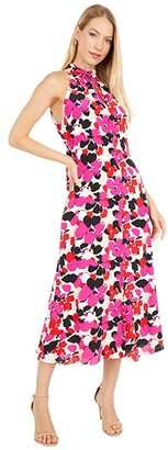 Milly Adrian Viola Print Dress (Ecru/Multi) Women's Dress