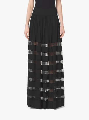 Michael Kors Collection Chantilly Lace and Silk-Georgette Skirt