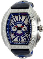 Adee Kaye Men's AK7230-M BLUE Ak7230-M (Wht/Blu) Quartz Movement Protected With A Duarble Minereal Crystal Watch