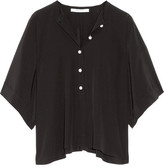 Givenchy Faux Pearl-embellished Silk-satin Top - Black