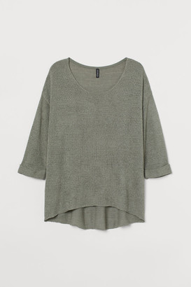 H&M H&M+ Loose-knit Sweater - Green