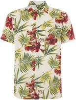 Howick Valdez Slubby Print Short Sleeve Shirt