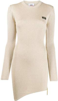 GCDS metallic knit mini dress