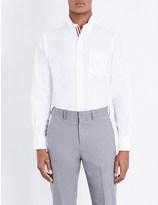 Thom Browne Classic striped-placket cotton-poplin shirt