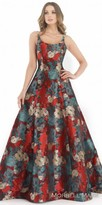 Morrell Maxie Floral Painted Vintage Open Back Ball Gown