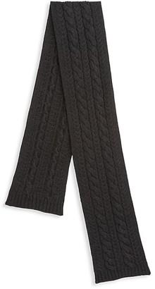 Ralph Lauren Purple Label Cable Knit Cashmere Scarf