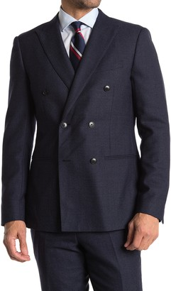 Reiss Steam Double Breasted Slim Fit Wool Blend Suit Separates Blazer