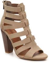 Bamboo Women's Mash Gladiator Sandal -Beige
