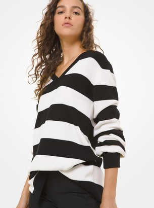 Michael Kors Collection Rugby Stripe Asymmetric Sweater