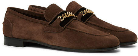 ffaba922788e2 Suede Loafers With Chain - ShopStyle UK