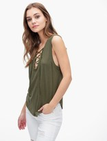 Splendid Slub Tees Lace Up Tank