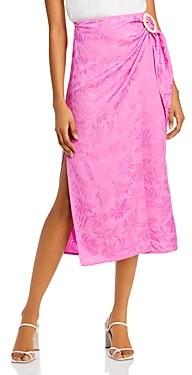 WAYF Juno Wrap Midi Skirt