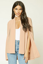 Forever 21 FOREVER 21+ Contemporary Padded Cape Blazer