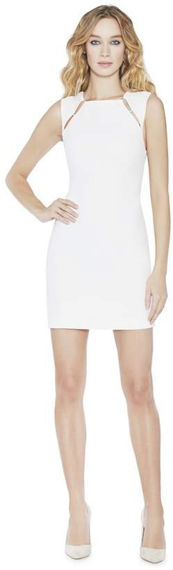 Alice + Olivia Kristiana Sleeveless Fitted Dress