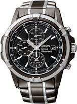 Seiko Mens Black Chronograph Watch SSC143