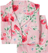 Cath Kidston Antique Rose Brushed Flannel Long PJ Set