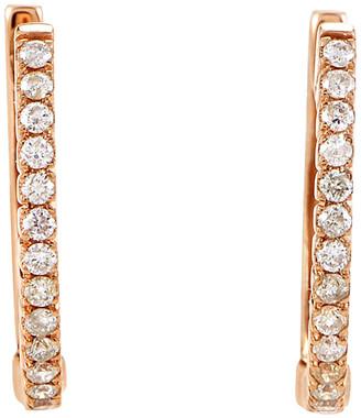Diamond Select Cuts 14K Rose Gold 0.27 Ct. Tw. Diamond Hoops
